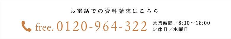 お電話での資料請求 0120-964-312