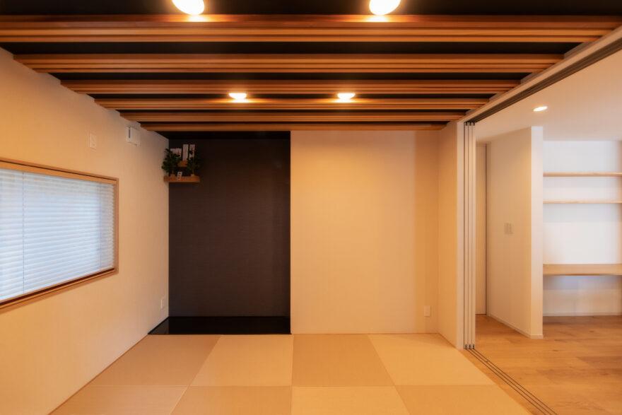 塗り壁が印象的な和モダンなお家4